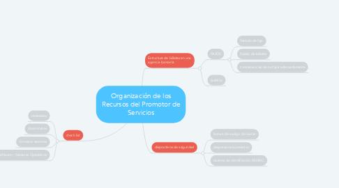 Mind Map: Organización de los Recursos del Promotor de Servicios