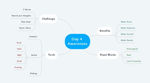 Mind Map: Day 4  Awareness