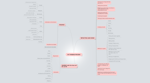 Mind Map: MY THINKING PROCESS