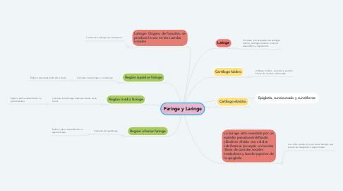 Mind Map: Faringe y Laringe