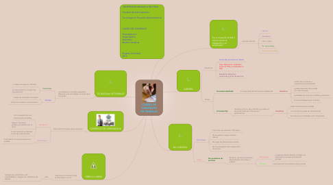 Mind Map: CLASES DECONTRATODE TRABAJO