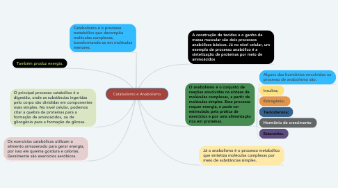 Mind Map: Catabolismo e Anabolismo