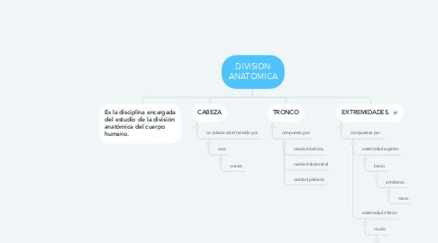 Mind Map: DIVISION ANATOMICA