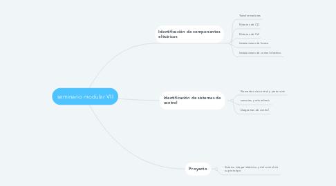 Mind Map: seminario modular VII