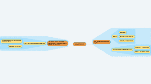 Mind Map: WILMS TUMOUR