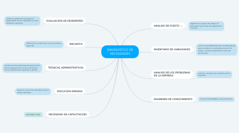 Mind Map: DIAGNOSTICO DE NECESIDADES
