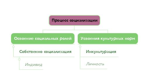 Mind Map: Процесс социализации