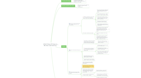 Mind Map: A Brief History Of Everyone Who Ever Lived Summary