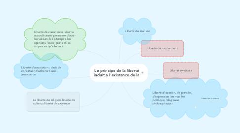 Mind Map: Le principe de la liberté induit a l'existence de la