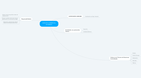 Mind Map: ASESOR COMERCIAL EXTERNO