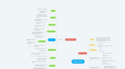 Mind Map: BUSINESS CONCEPT & BUSINESS MODEL