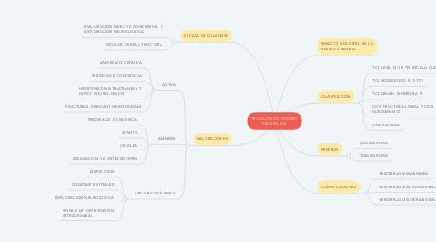 Mind Map: TRAUMATISMO CRANEO ENCEFALICO