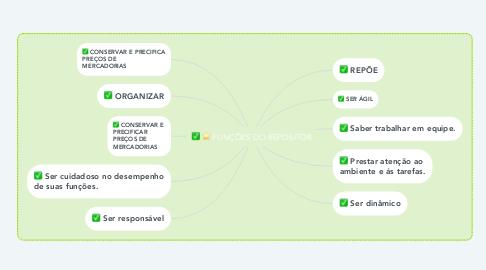 Mind Map: FUNÇÕES DO REPOSITOR