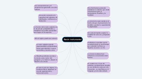 Mind Map: Razón instrumental
