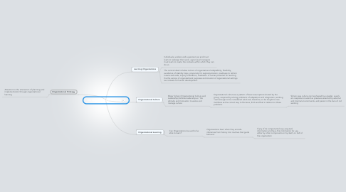Mind Map: On Organizational Learning