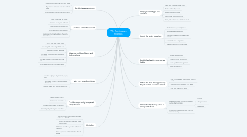Mind Map: Why Routines are Important.