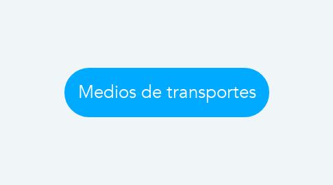 Mind Map: Medios de transportes