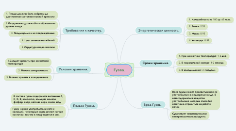 Mind Map: Гуава.