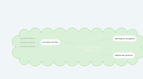 Mind Map: PRODUCCIONES MAS LIMPIAS