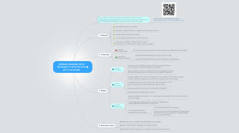 Mind Map: [FORUM ORLEANS 2012]développer la prise de notes par le numérique