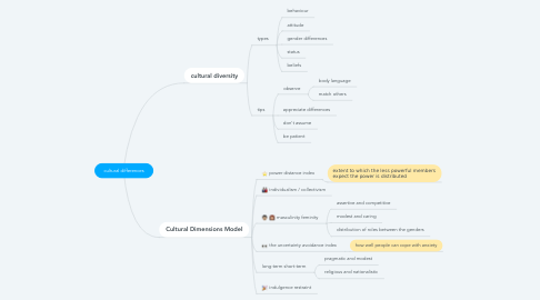 Mind Map: cultural differences