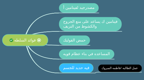 Mind Map: فوائد السلطه