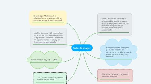 Mind Map: Sales Manager