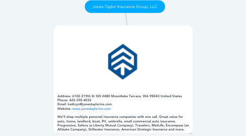 Mind Map: Jones-Taylor Insurance Group, LLC