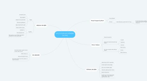 Mind Map: İLK ÇOCUKLUK DÖNEMİ 2-6 YAŞ