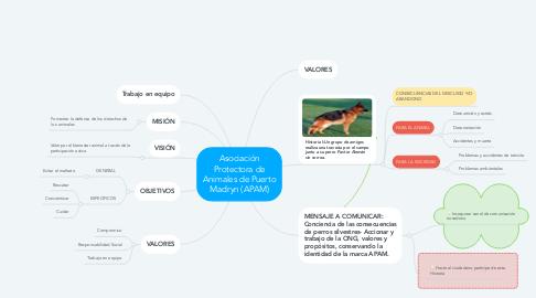Mind Map: Asociación Protectora de Animales de Puerto Madryn (APAM)