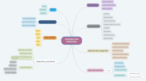 Mind Map: INTEGRACION SENSORIAL