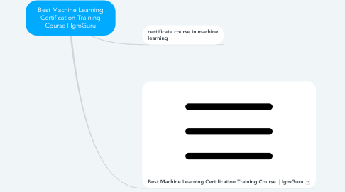 Mind Map: Best Machine Learning Certification Training Course | IgmGuru