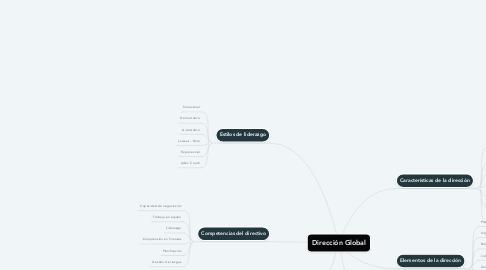 Mind Map: Dirección Global