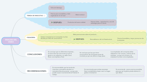 Mind Map: ANALISIS DEL VIDEO