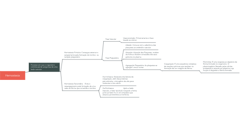 Mind Map: Hemostasia