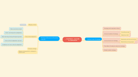 Mind Map: CHAPTER 9 - CULTURE & CORPORATE