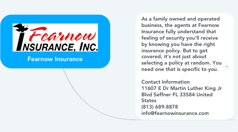 Mind Map: Fearnow Insurance