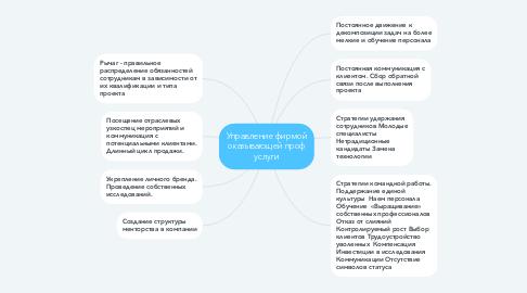 Mind Map: Управление фирмой оказывающей проф услуги