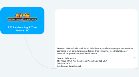 Mind Map: EPS Landscaping & Tree Service LLC