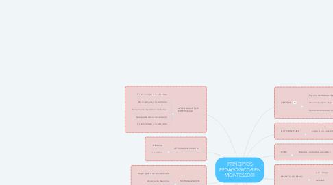 Mind Map: PRINCIPIOS PEDAGÓGICOS EN MONTESSORI