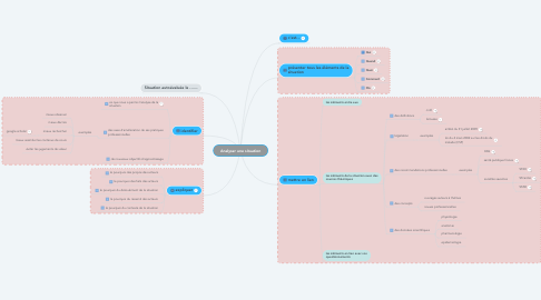 Mind Map: Analyser une situation