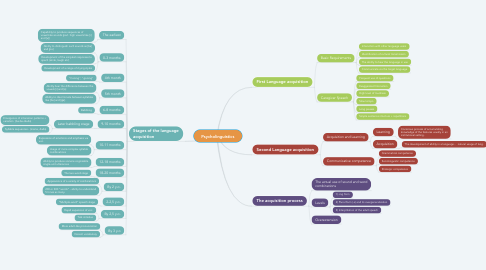 Mind Map: Psycholinguistics