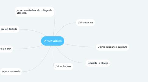 Mind Map: je suis Adam