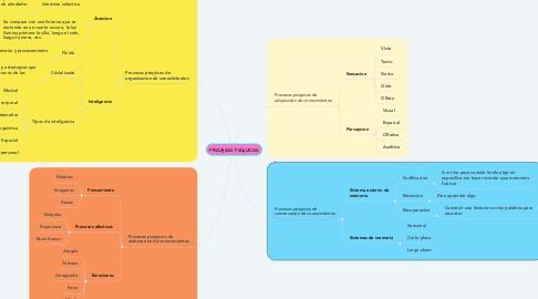 Mind Map: PROCESOS PSÍQUICOS