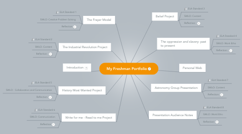 Mind Map: My Freshman Portfolio