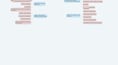 Mind Map: Tratado de Libre Comercio entre los Estados Unidos Mexicanos y las Repúblicas de Costa Rica, El Salvador, Guatemala, El Salvador, Guatemala, Honduras y Nicaragua 2012