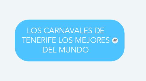 Mind Map: LOS CARNAVALES DE TENERIFE LOS MEJORES DEL MUNDO