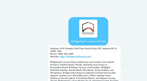 Mind Map: Bridgemark Luxury Homes