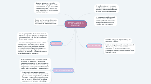 Mind Map: IMPORTANCIA DEL BRANDING