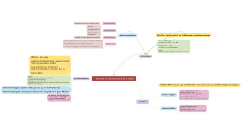 Mind Map: la tumeur